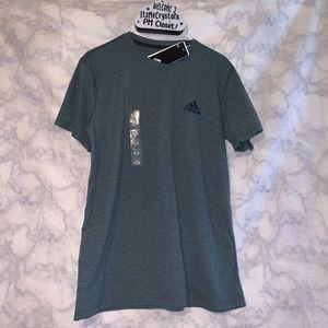 Adidas Climalite Mens Shirt Olive green color